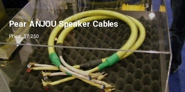 pear anjou speaker cables