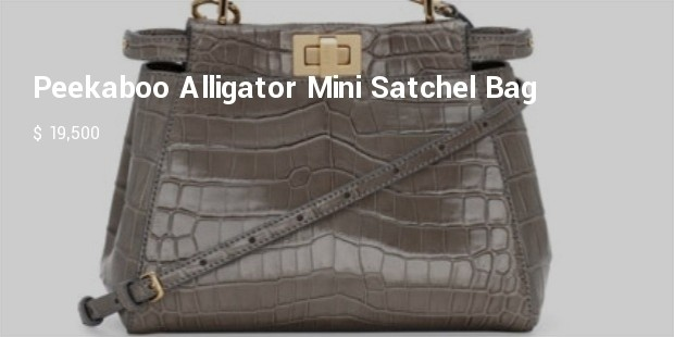 peekaboo alligator mini satchel bag