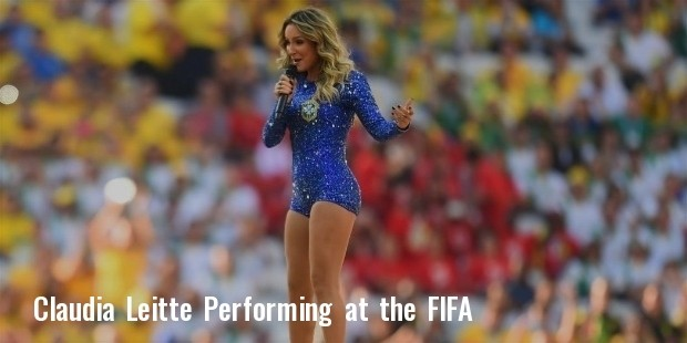 performs during the opening ceremony of the 2014 fifa world