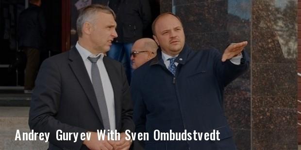 phosagro ceo andrey guryev and board of directors chairman sven ombudstvedt