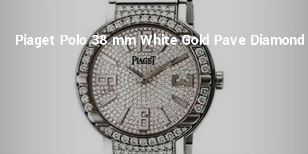 piaget polo 38 mm white gold pave diamond watch