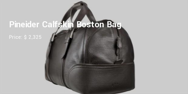pineider calfskin boston bag