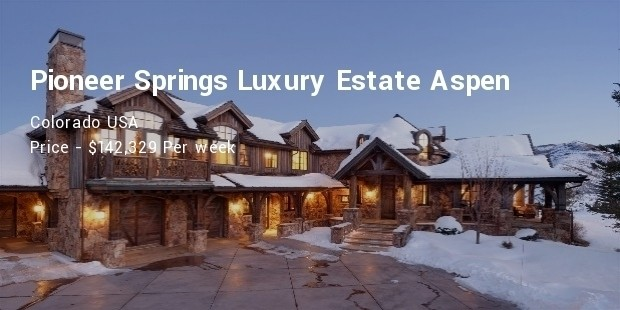 pioneer springs luxury estate aspen, colorado usa