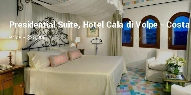 presidential suite, hotel cala di volpe   costa smeralda, italy