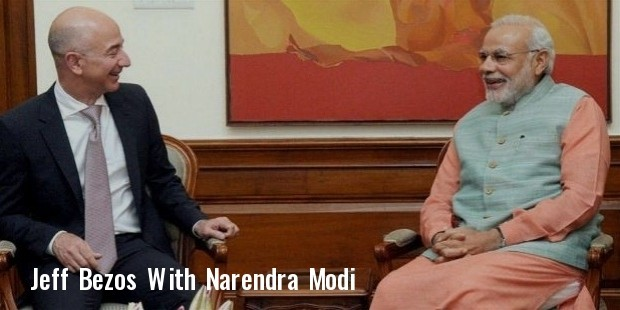 prime minister narendra modi with amazon