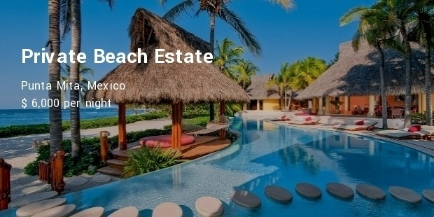 private beach estate, punta mita, mexico
