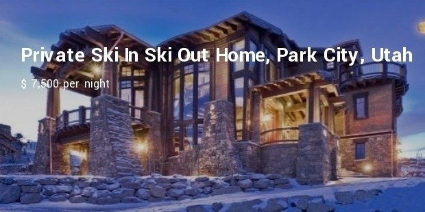 private ski in ski out home, park city, utah