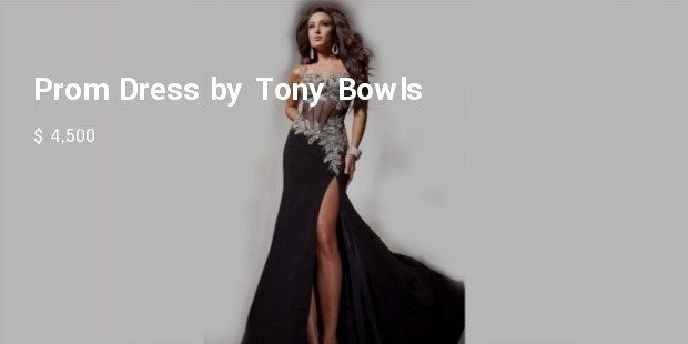 prom dress by tony bowls