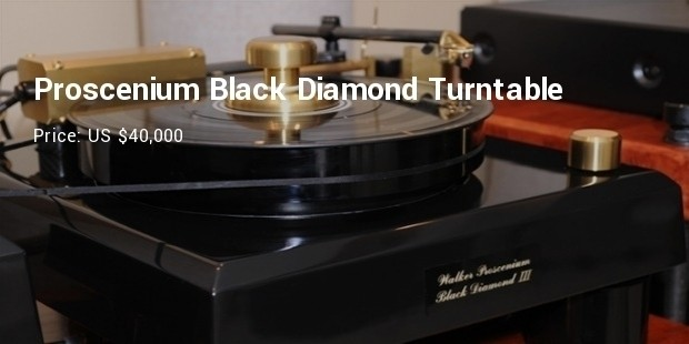 proscenium black diamond turntable