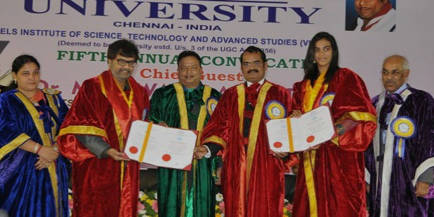 pv sindhu honoarary doctorate