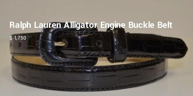 ralph lauren alligator engine buckle belt