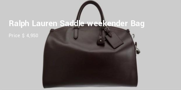 ralph lauren saddle weekender bag