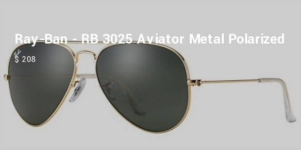 ray ban   rb 3025 aviator large metal polarized