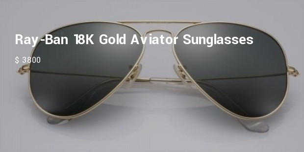 ray ban 18k gold aviator sunglasses
