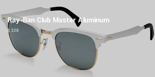 ray ban club master aluminum