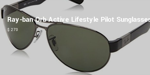 ray ban orb active lifestyle pilot sunglasses