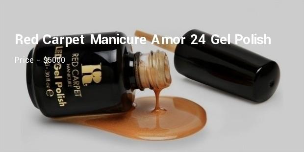 red carpet manicure amor 24 gel polish