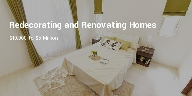 redecorating and renovating homes