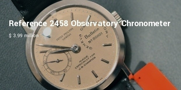 reference 2458 observatory chronometer for j