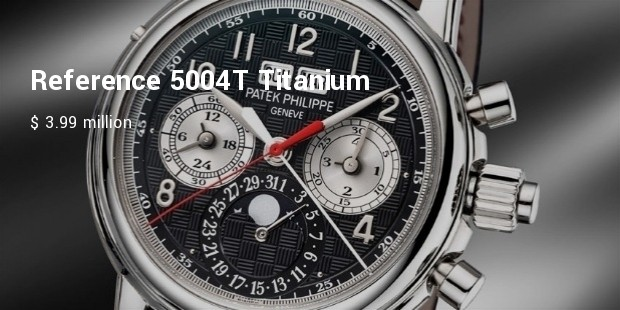 reference 5004t titanium for only watch auction
