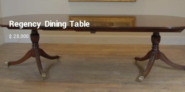 regency dining table