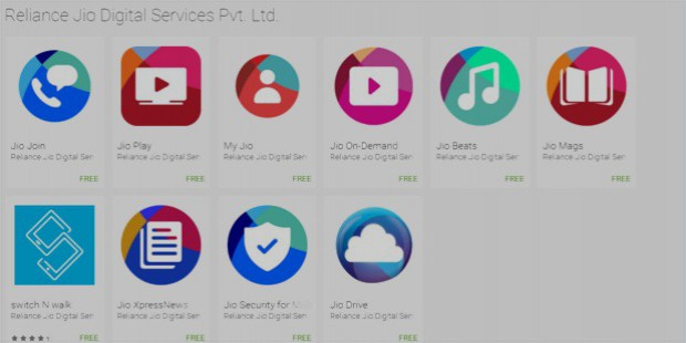 reliance jio apps