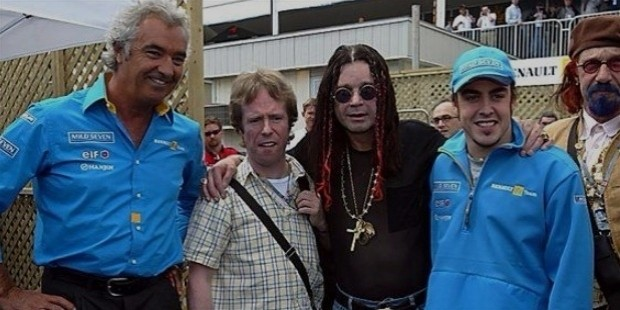 rock legend ozzy osbourne  gbr  meets flavio briatore