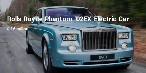 Rolls Royce Phantom 102ex Electric Car 1 6 Million