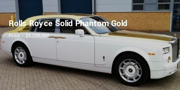 rolls royce solid phantom gold