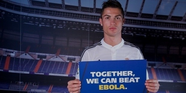 ronaldo against ebola