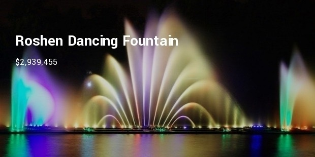 roshen dancing fountain at vinnitsa at ukraine