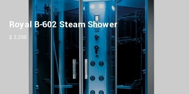 royal b 602 steam shower