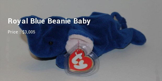 royal blue beanie baby