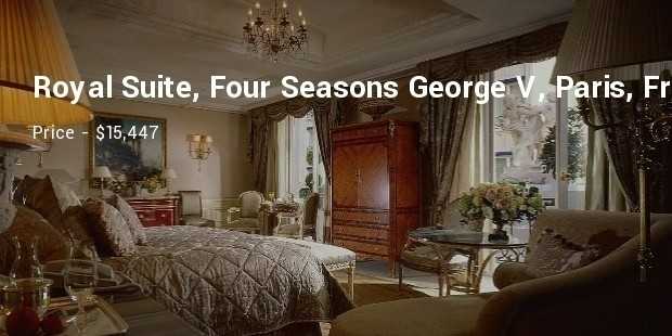 royal suite, four seasons george v, paris, france
