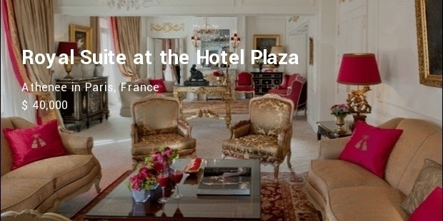 royal suite at the hotel plaza athenee in paris, france