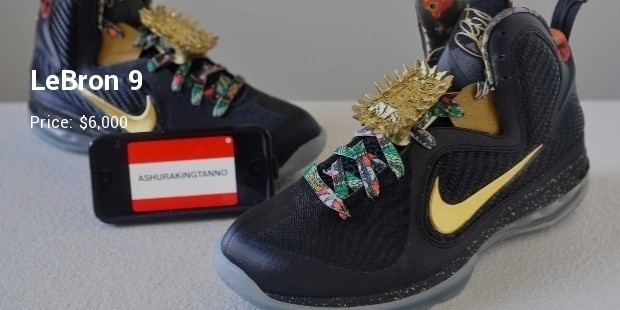 10 Most Expensive Nike Lebrons