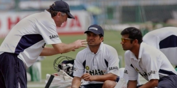 sachin with john right