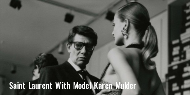 saint laurent and model karen mulder