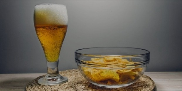 salty snacks with your drinks