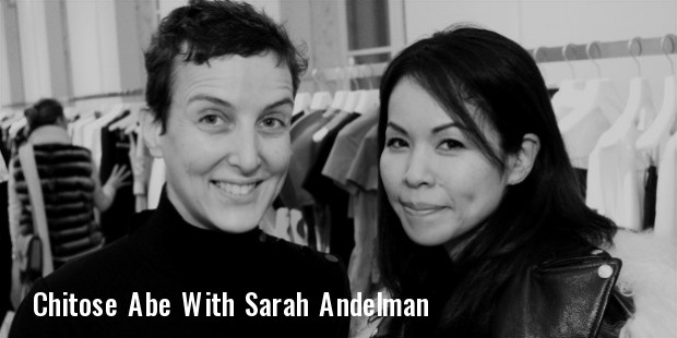 sarah andelman and creative director of sacai chitose abe