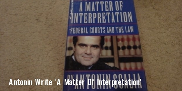 scalia antonin a matter of interpretation federal courts and the law 1997 book signed autograph 4  1