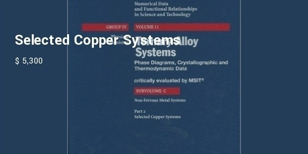 selected copper systems