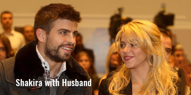 shakira with husband