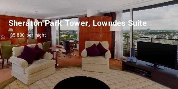 sheraton park tower, lowndes suite
