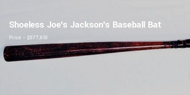 shoeless joe jacksons baseball bat