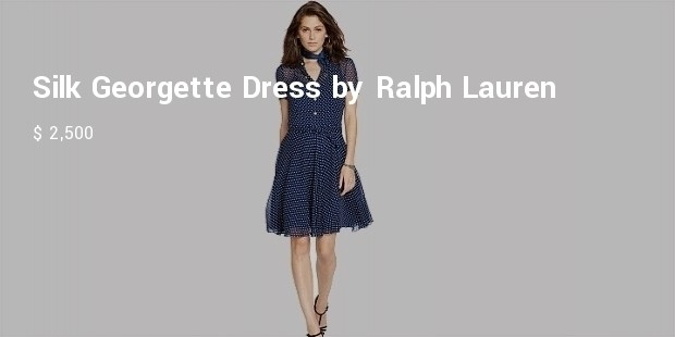 silk georgette dress by ralph lauren