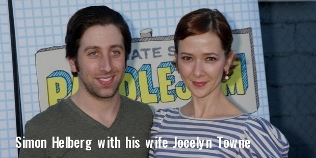 simon helberg and his wife jocelyn towne