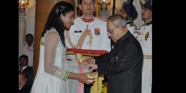 Sindhu receives Arjuna Award