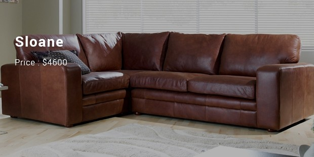 Sloane Leather Corner Sofa   $4600/Person