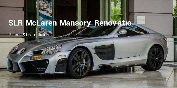 Slr mclaren mansory renovatio for The most expensive mercedes benz